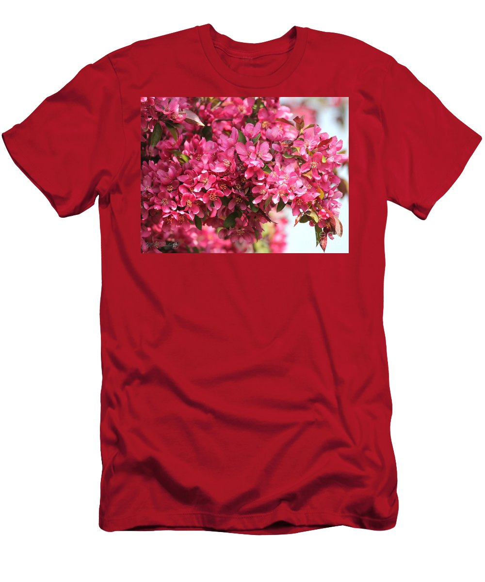 Mccombie Men's T-Shirt (Athletic Fit) featuring the photograph Crabapple Tree Named Prairiefire by J McCombie