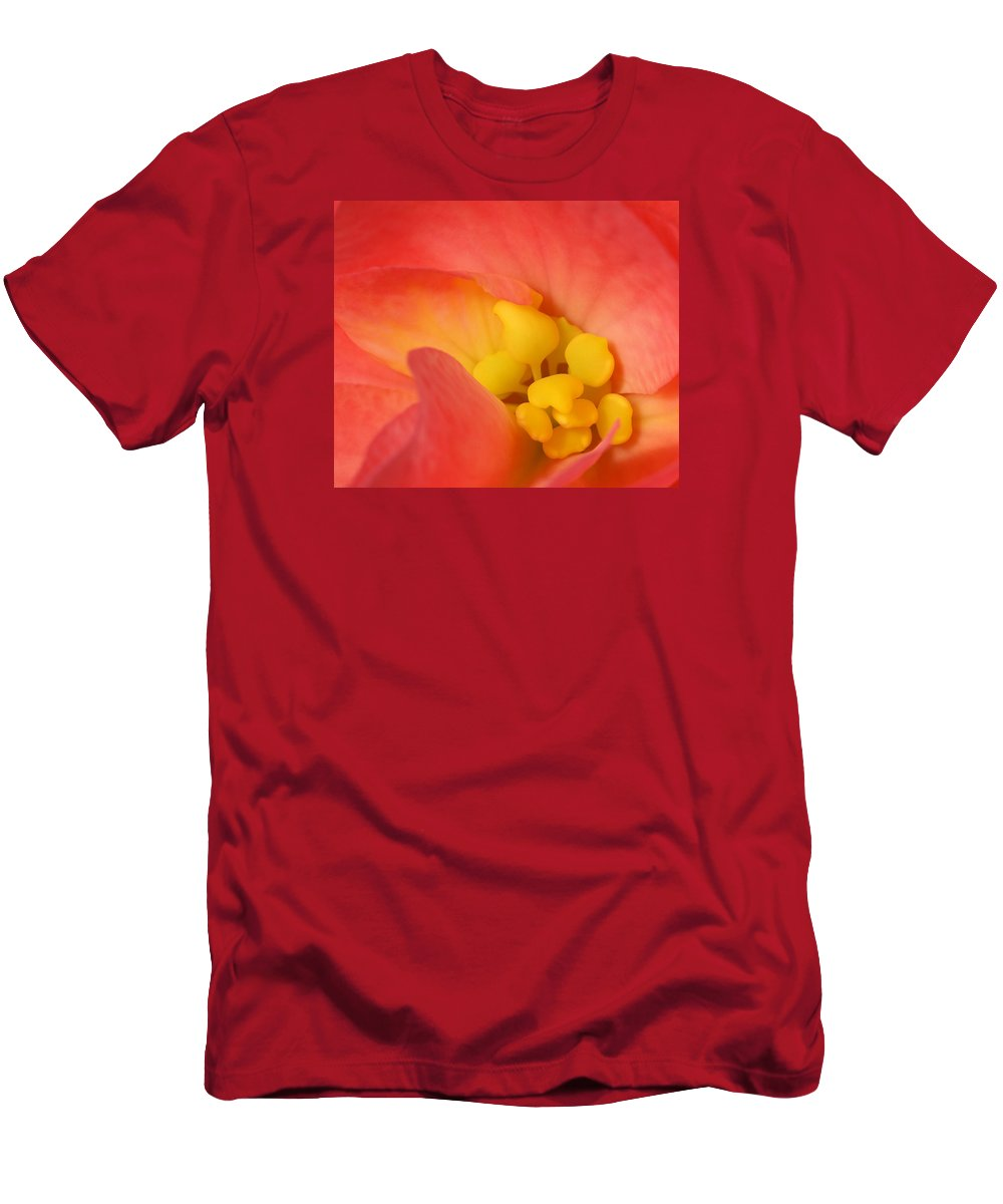 Begonia Close Up T-Shirt featuring the photograph From The Heart by Bill Morgenstern