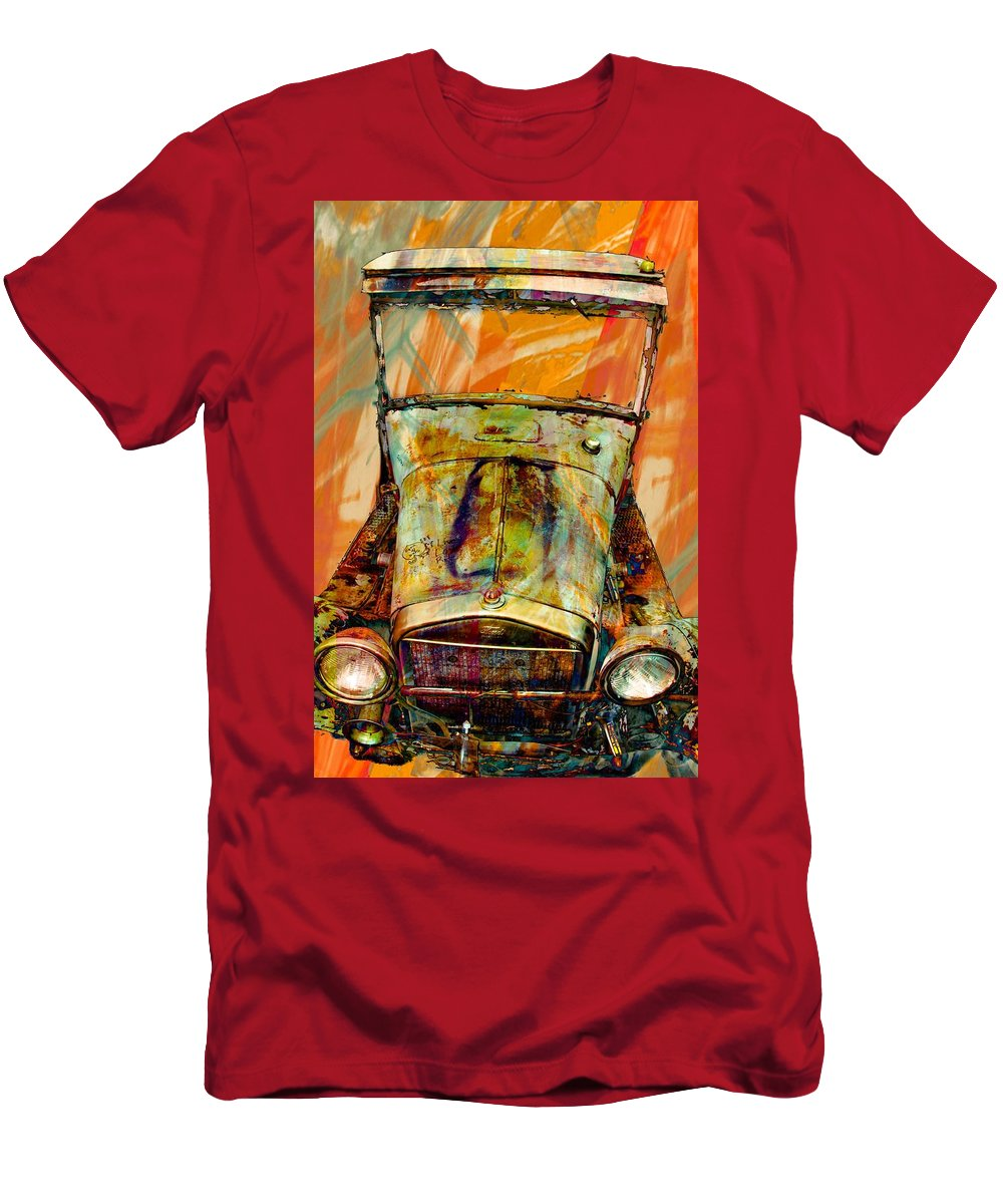1929 Vehicle Men's T-Shirt (Athletic Fit) featuring the photograph Ghost Of 1929 by Aaron Berg