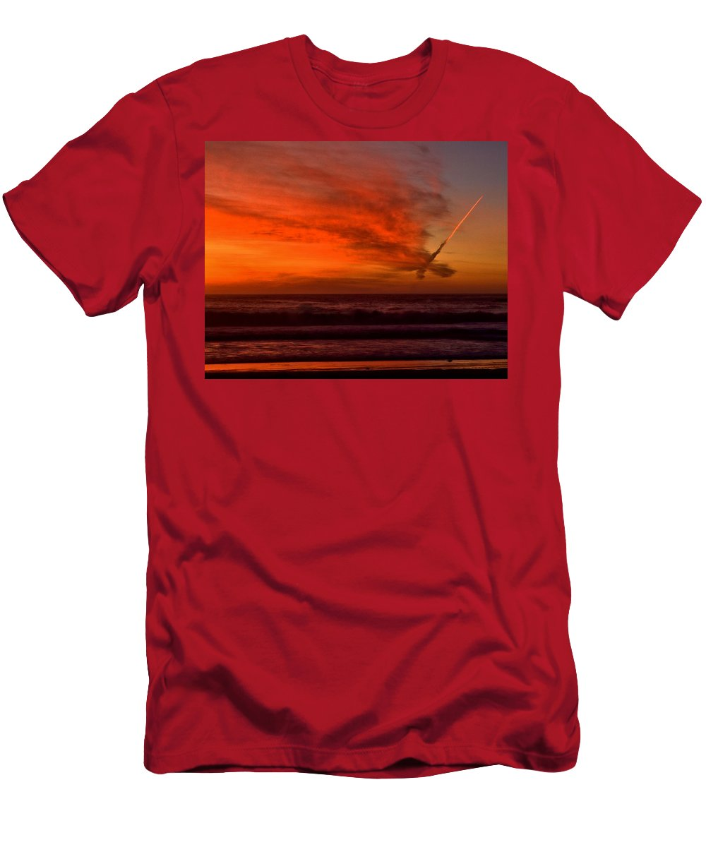 Travel Men's T-Shirt (Athletic Fit) featuring the photograph Homeward Bound by Michael Gordon