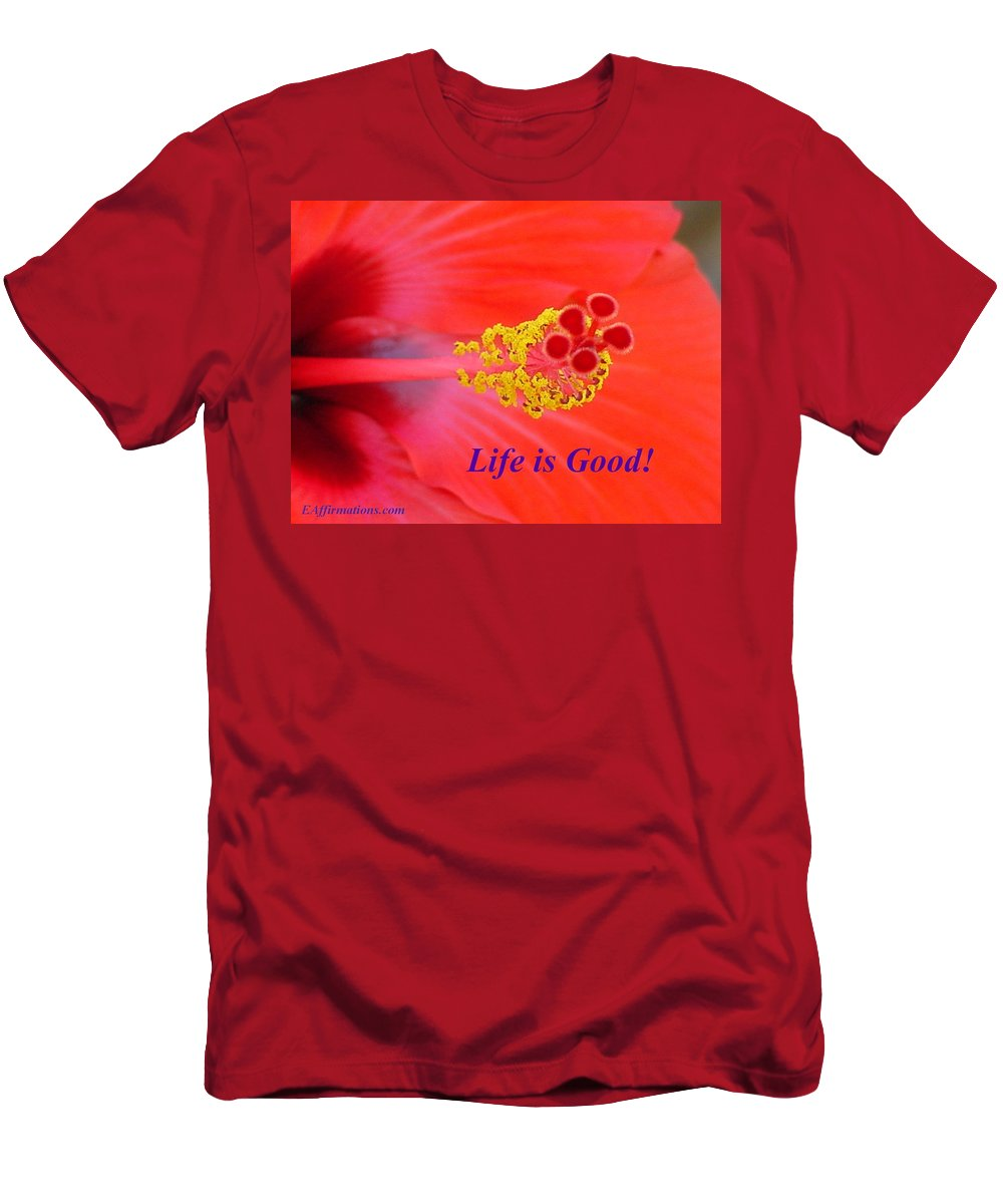 Hawaiian Flower Men's T-Shirt (Athletic Fit) featuring the photograph Life Is Good by Pharaoh Martin