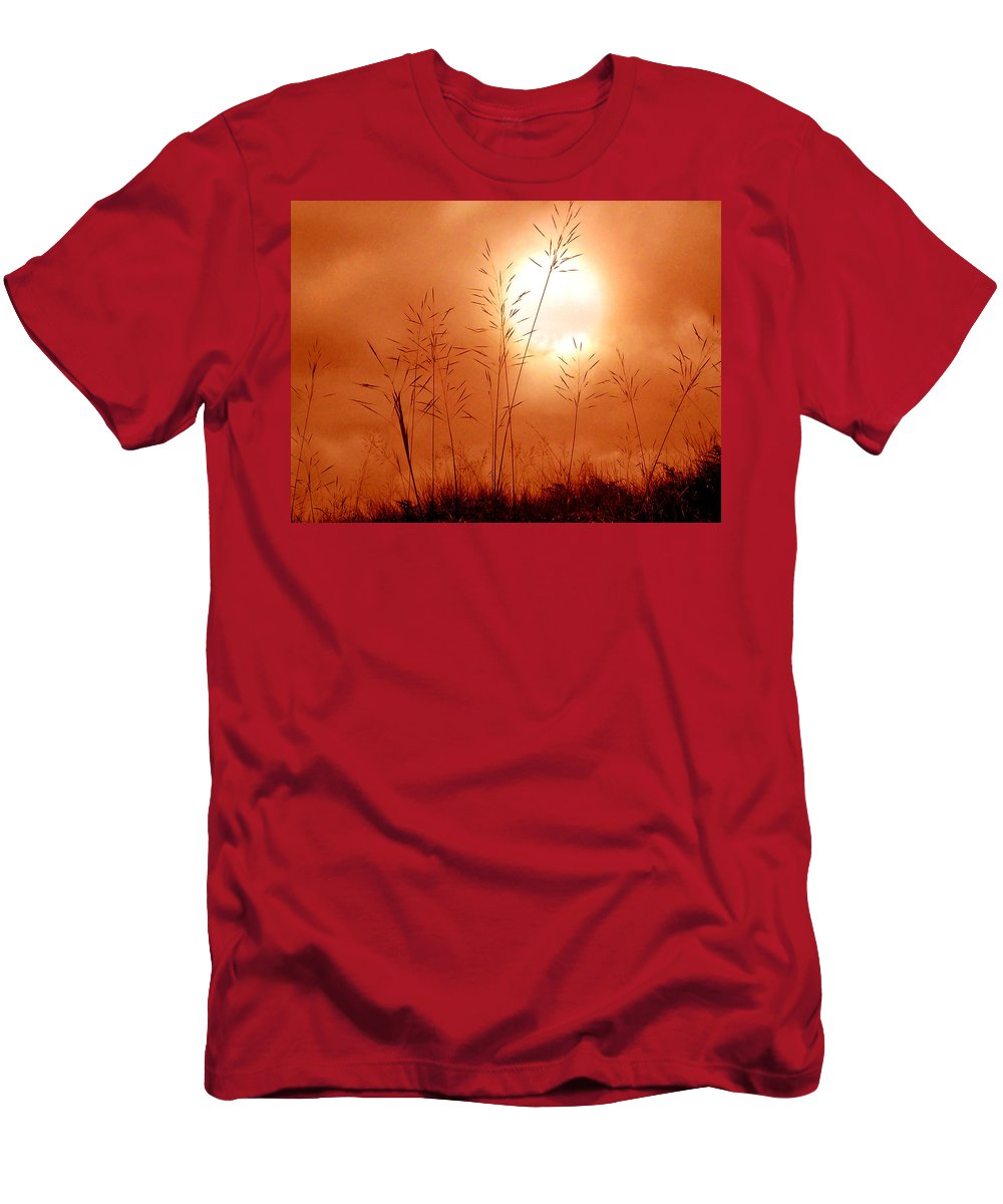Sun Men's T-Shirt (Athletic Fit) featuring the photograph Lonely Planet by Nirdesha Munasinghe