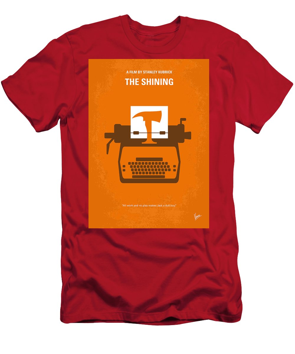 The T-Shirt featuring the digital art No094 My The Shining minimal movie poster by Chungkong Art