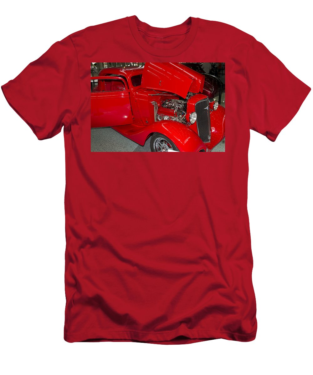 American Men's T-Shirt (Athletic Fit) featuring the photograph One Hot Rod by Jack R Perry
