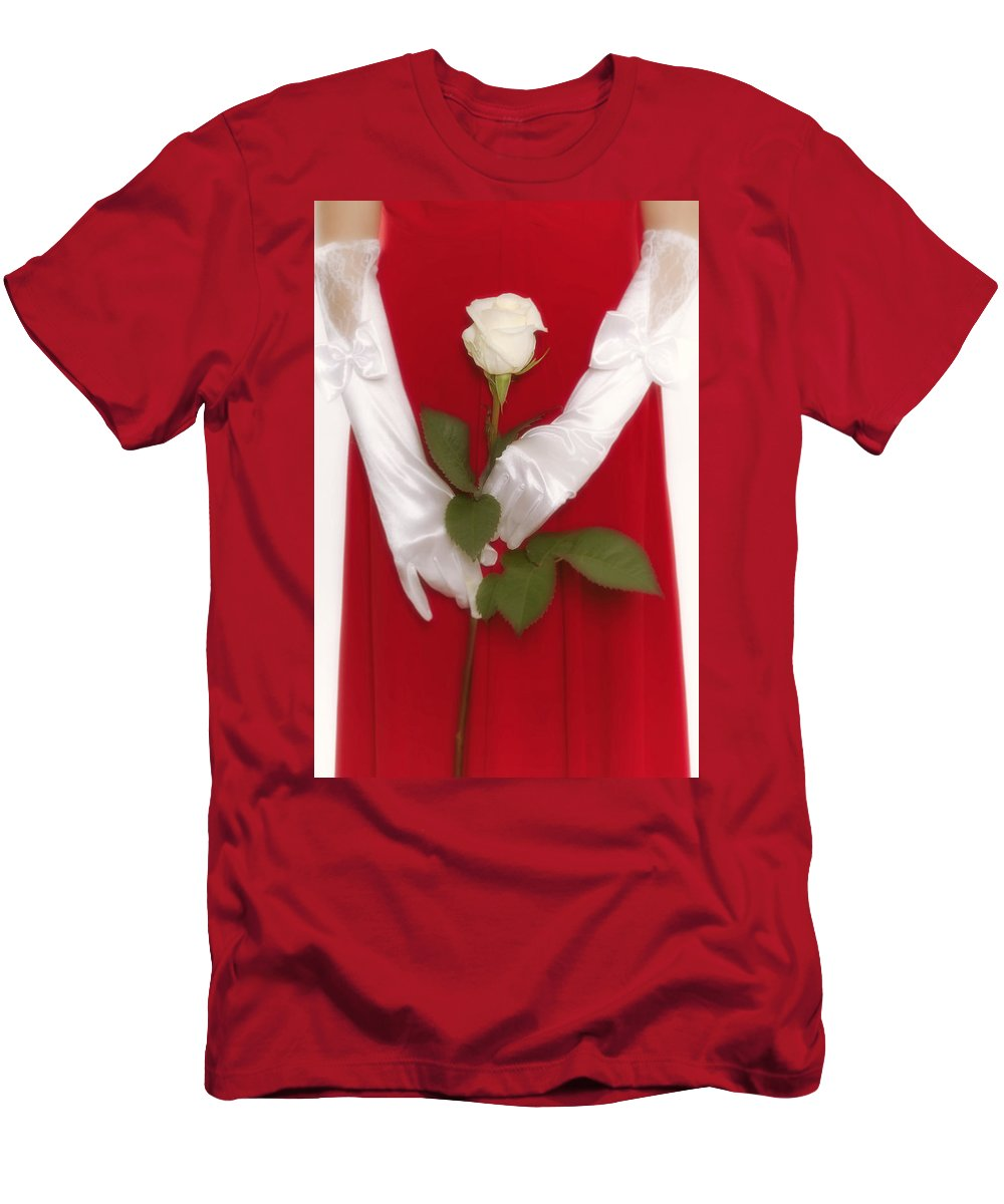 Woman Men's T-Shirt (Athletic Fit) featuring the photograph Rose by Joana Kruse