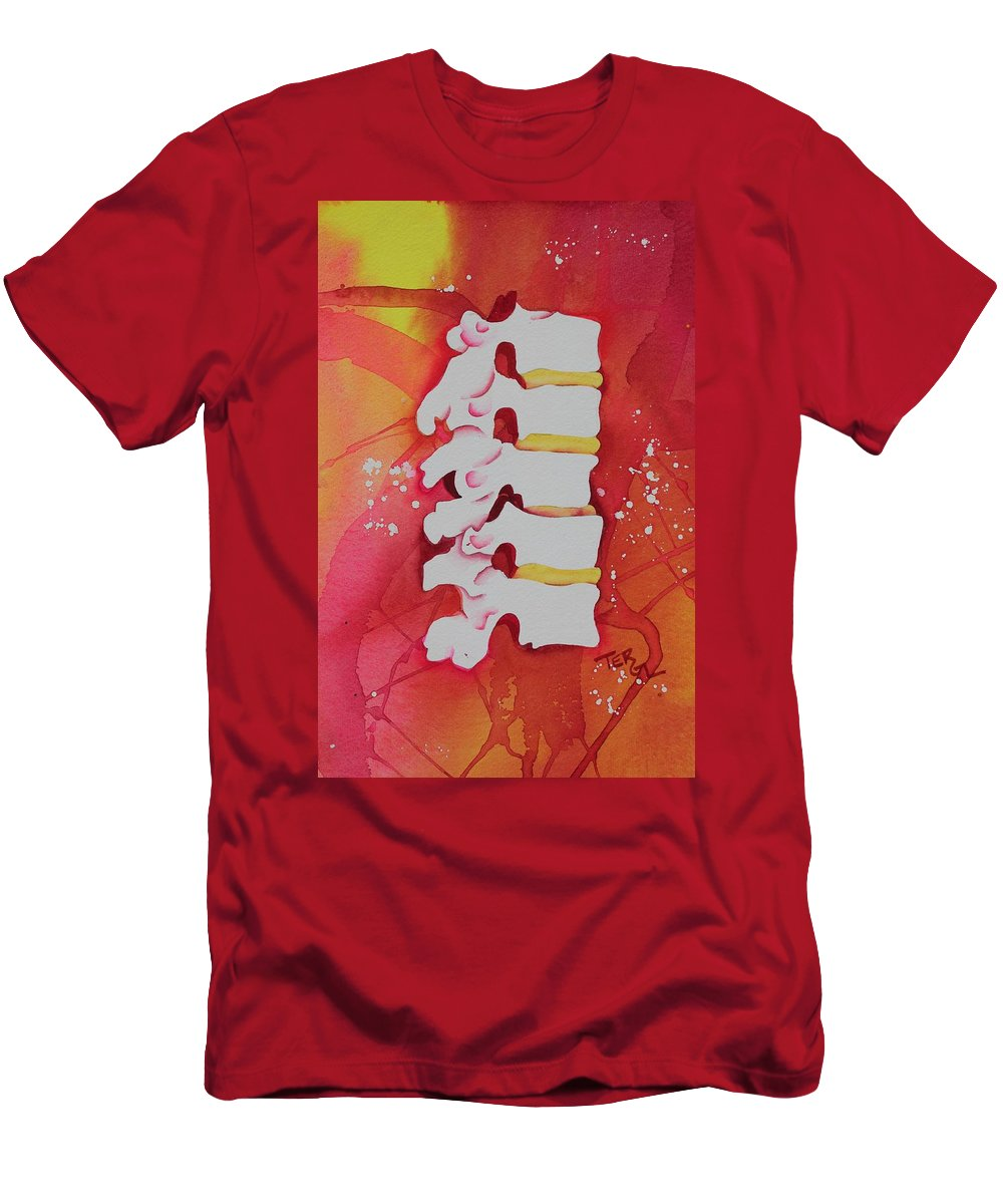 Watercolor Men's T-Shirt (Athletic Fit) featuring the painting Subluxation by Teresa Grace Fourre