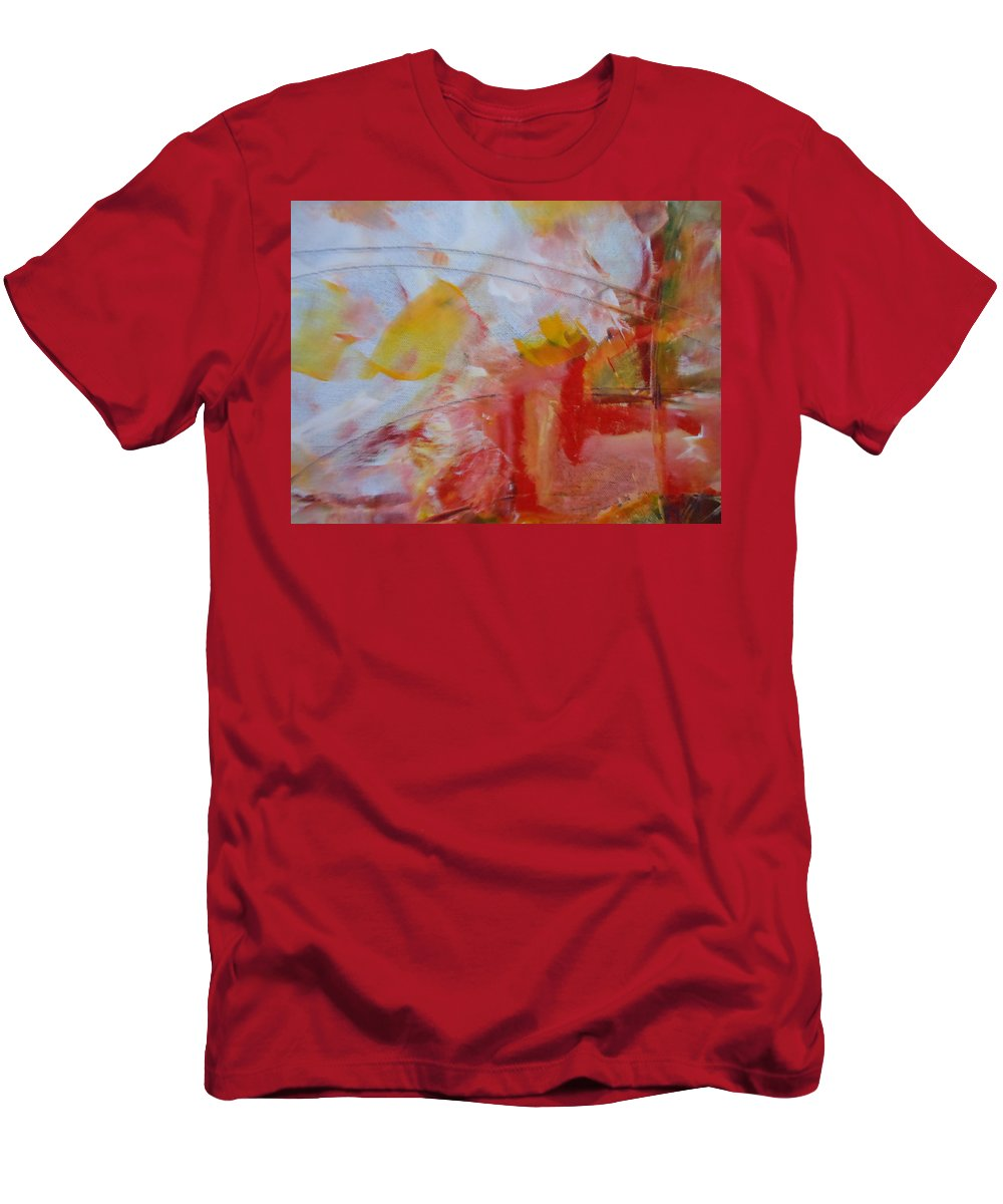 Abstract Men's T-Shirt (Athletic Fit) featuring the painting Time by Lord Frederick Lyle Morris - Disabled Veteran