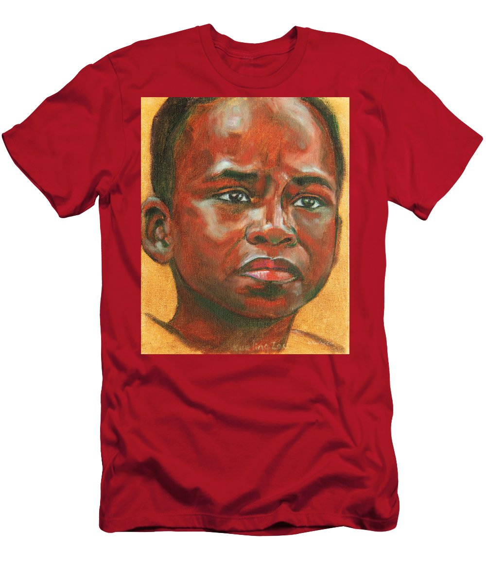 The Men's T-Shirt (Athletic Fit) featuring the painting Uncertainty by Xueling Zou