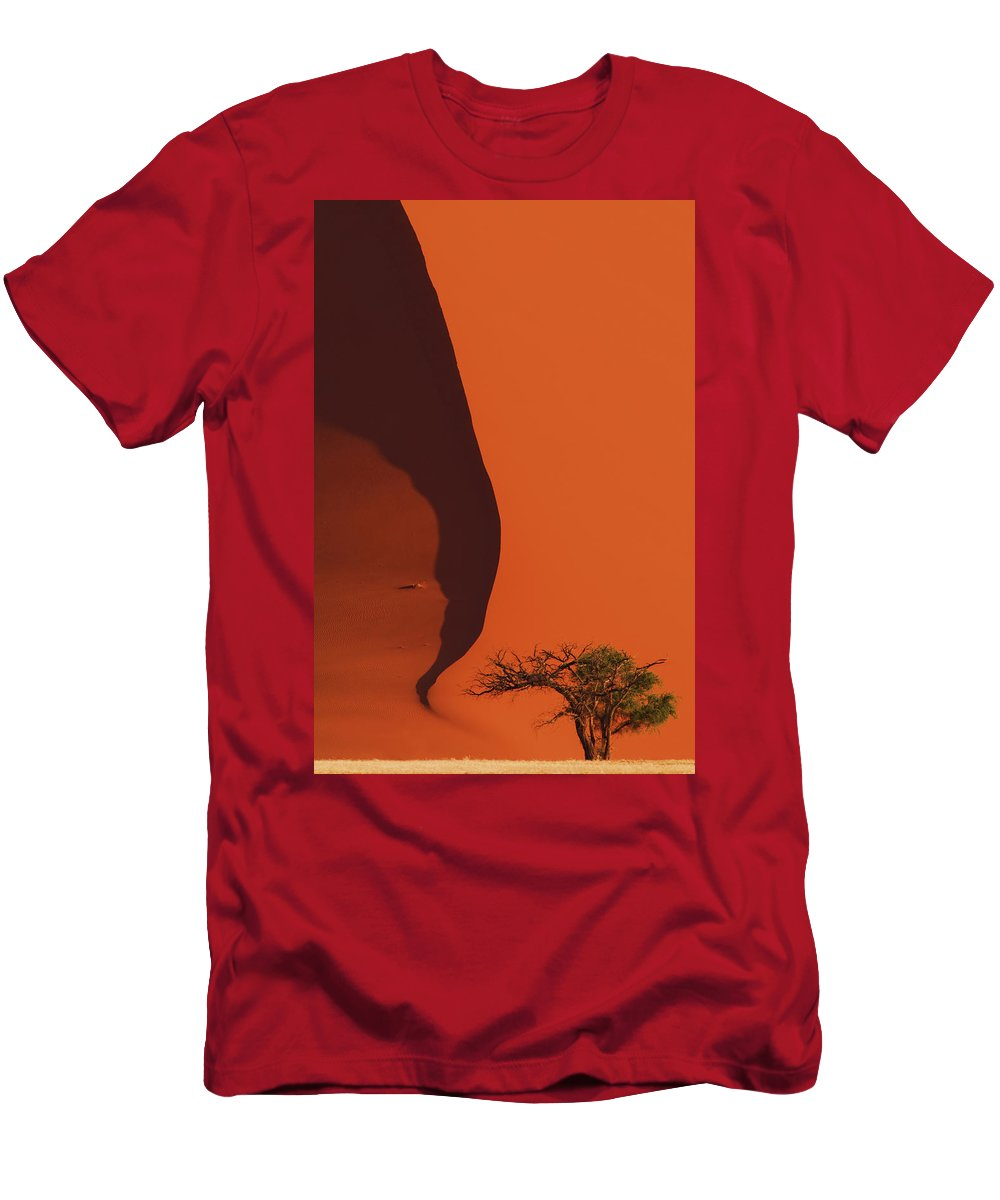 Red Men's T-Shirt (Athletic Fit) featuring the photograph 120118p072 by Arterra Picture Library