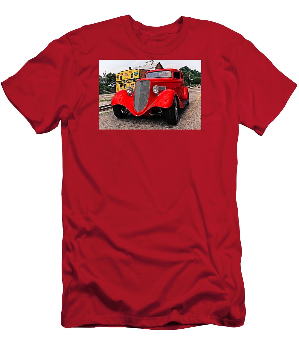 Transportation Men's T-Shirt (Athletic Fit) featuring the photograph 1933 Ford Coupe by Marcia Colelli