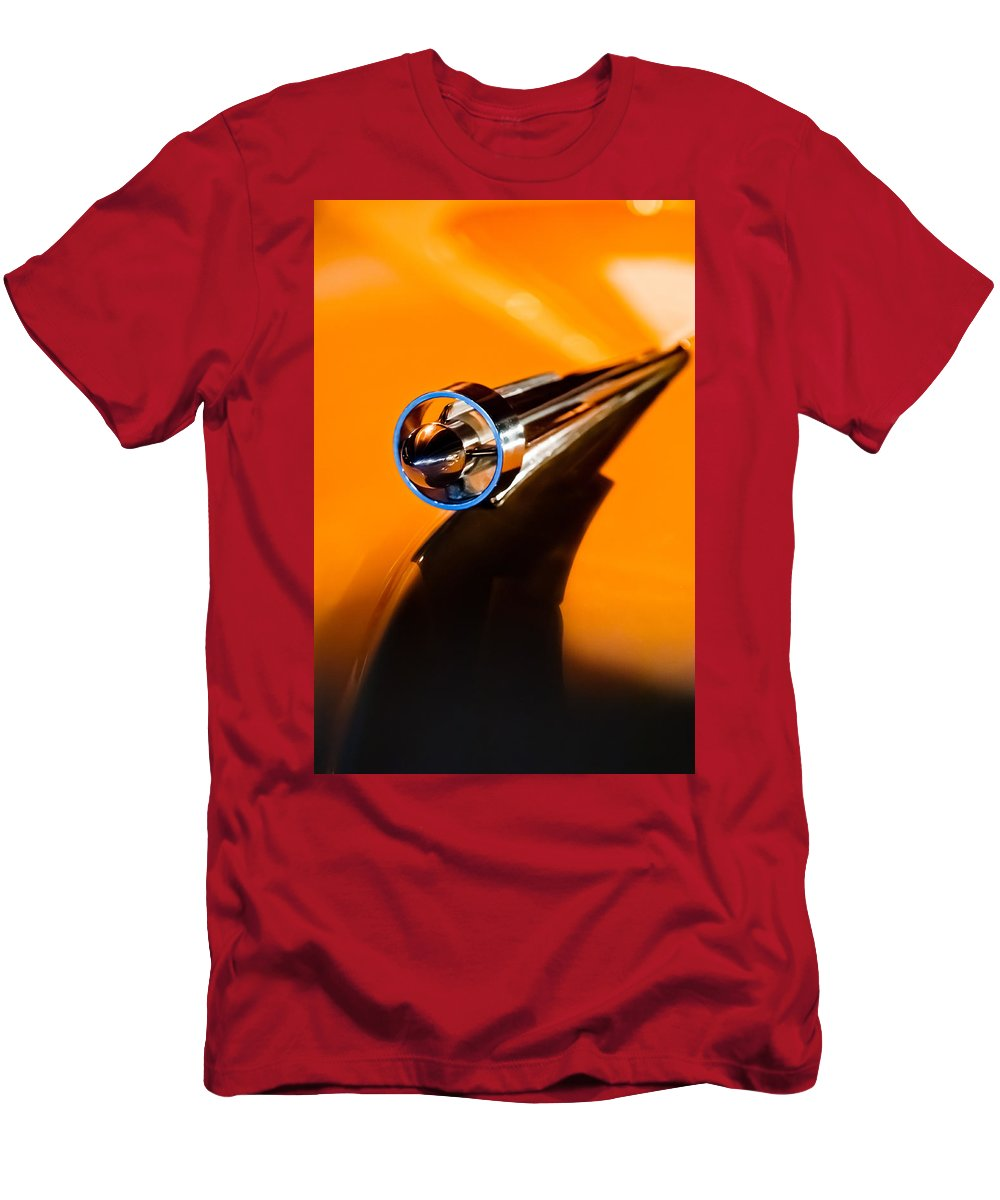 1951 Studebaker Pickup Truck Hood Ornament Men's T-Shirt (Athletic Fit) featuring the photograph 1951 Studebaker Pickup Truck Hood Ornament by Jill Reger