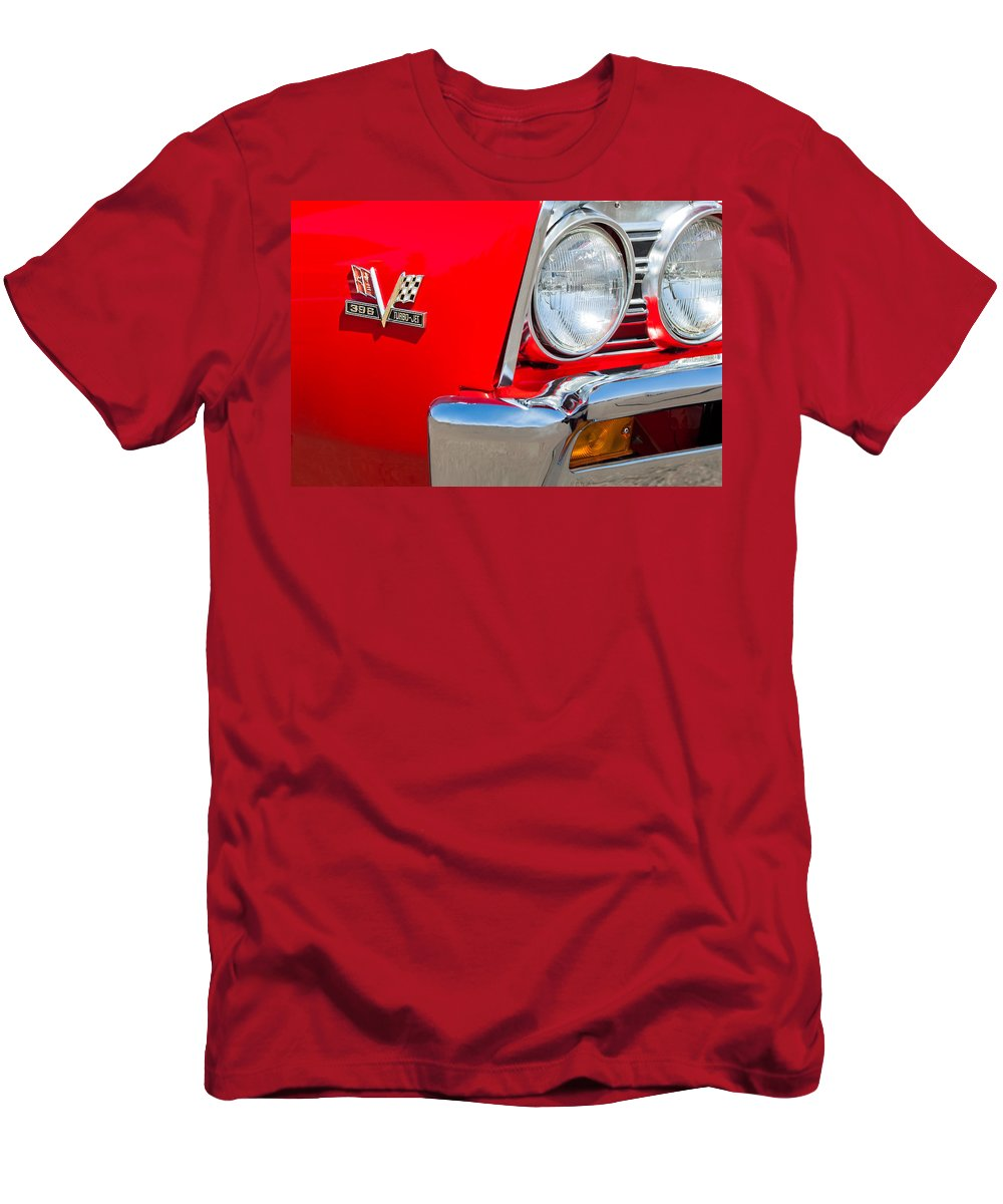 1967 Chevrolet Chevelle Ss Emblem Men's T-Shirt (Athletic Fit) featuring the photograph 1967 Chevrolet Chevelle Ss Emblem by Jill Reger