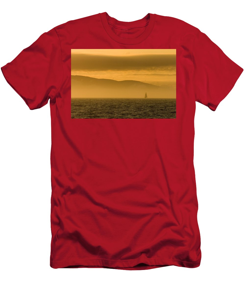 Sunset Men's T-Shirt (Athletic Fit) featuring the photograph Acadia National Park Sunset by Sebastian Musial