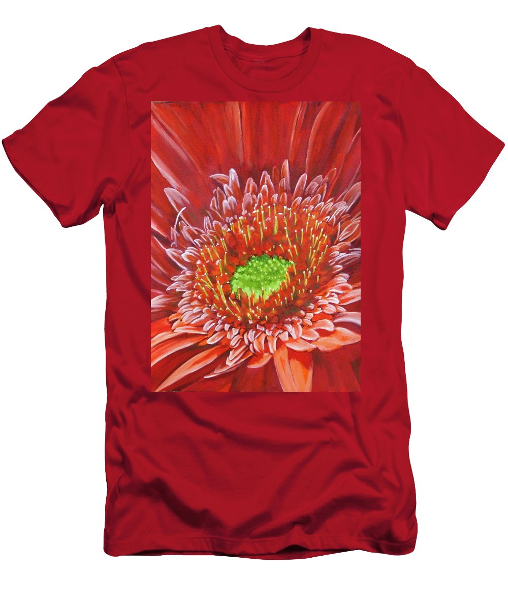 Flower Men's T-Shirt (Athletic Fit) featuring the painting Cameo by Barbara Keith