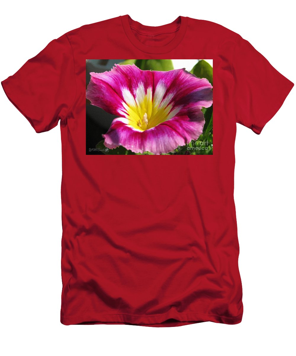 Mccombie Men's T-Shirt (Athletic Fit) featuring the painting Morning Glory Named Red Ensign by J McCombie