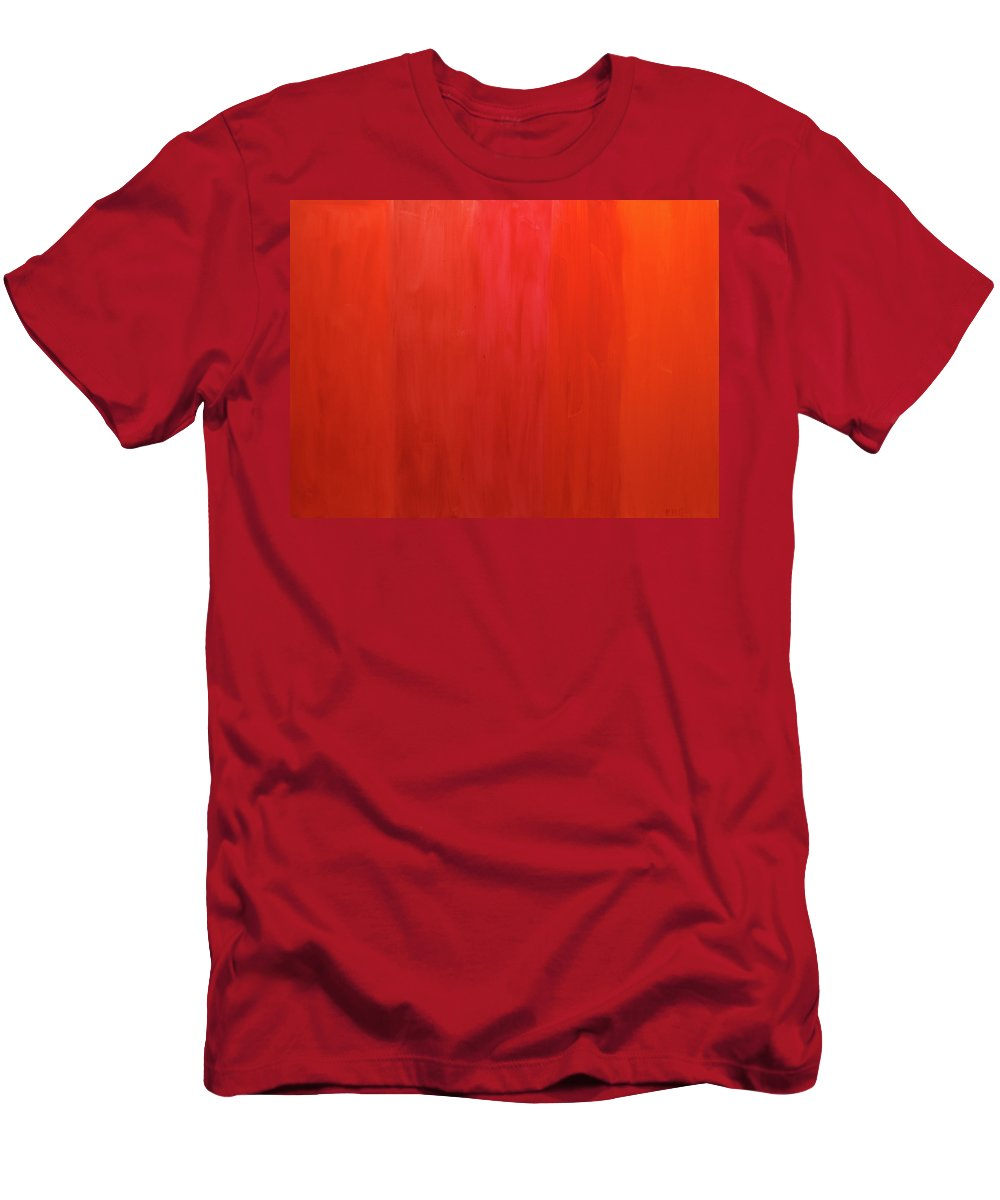 Oranges Men's T-Shirt (Athletic Fit) featuring the painting Oranges by Kimberly Maxwell Grantier