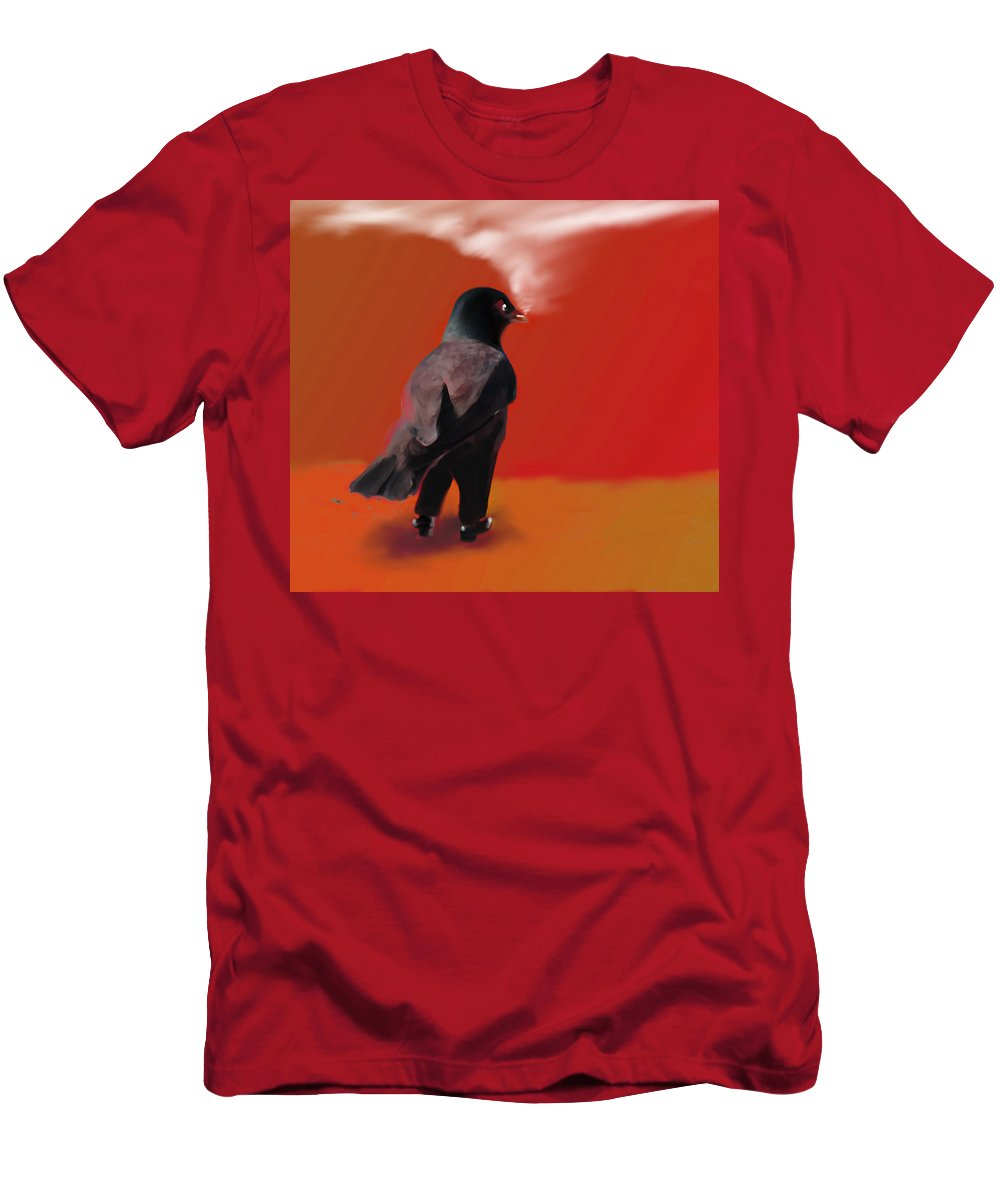 Raven Men's T-Shirt (Athletic Fit) featuring the photograph Out For A Walk... by Marcello Cicchini