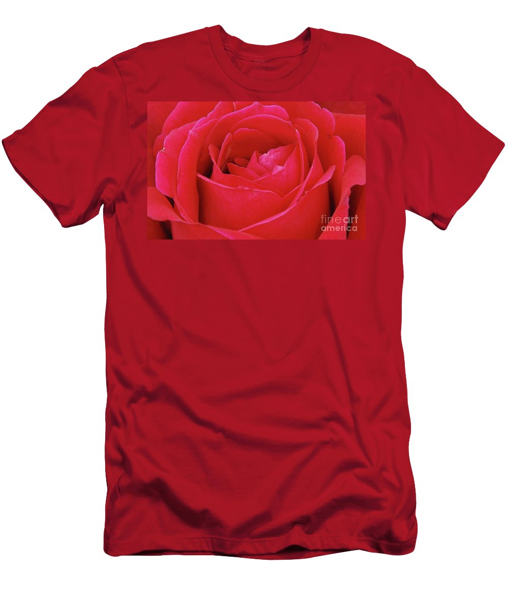 Red Men's T-Shirt (Athletic Fit) featuring the photograph Red Rose by Allen Beatty