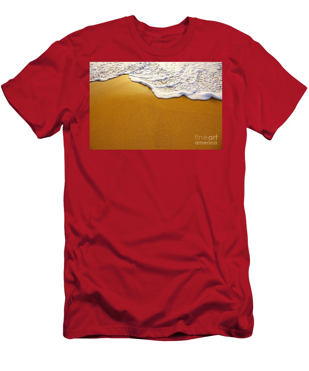 Background Men's T-Shirt (Athletic Fit) featuring the photograph Sea Foam by Carlos Caetano