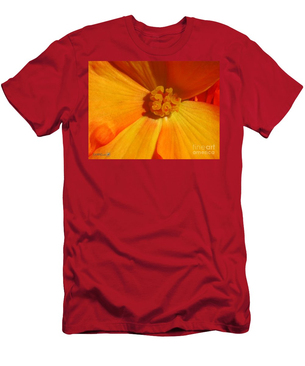 Begonia Men's T-Shirt (Athletic Fit) featuring the photograph Begonia Named Nonstop Apricot by J McCombie