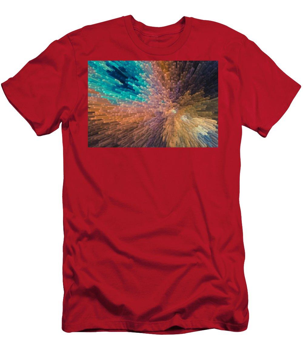 3d Men's T-Shirt (Athletic Fit) featuring the digital art 3d Art by David Pyatt