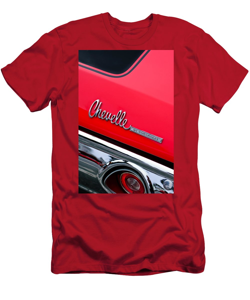 Chevrolet Chevelle Ss Taillight Emblem Men's T-Shirt (Athletic Fit) featuring the photograph Chevrolet Chevelle Ss Taillight Emblem by Jill Reger