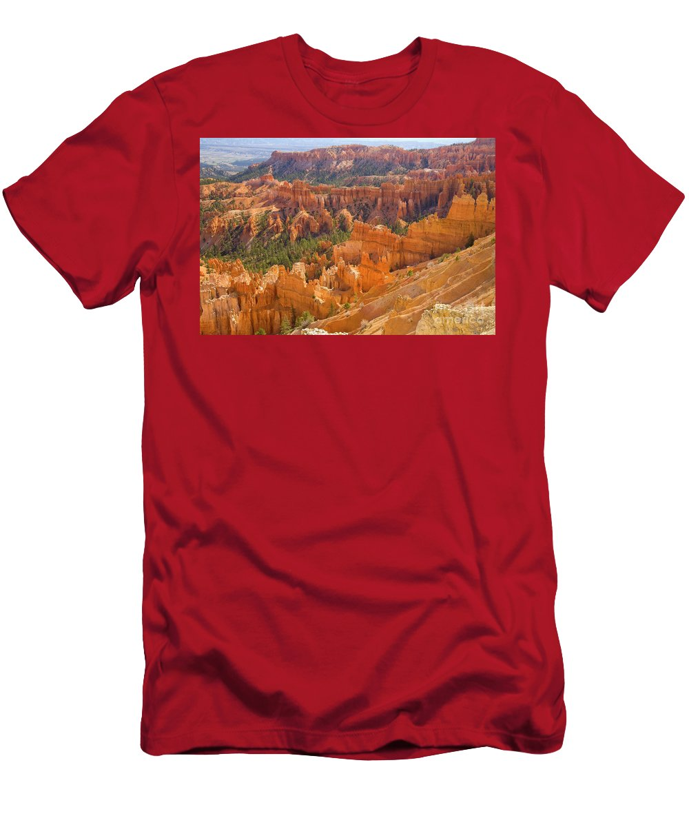 00431145 Men's T-Shirt (Athletic Fit) featuring the photograph Sandstone Hoodoos Bryce Canyon Natl Park by Yva Momatiuk John Eastcott
