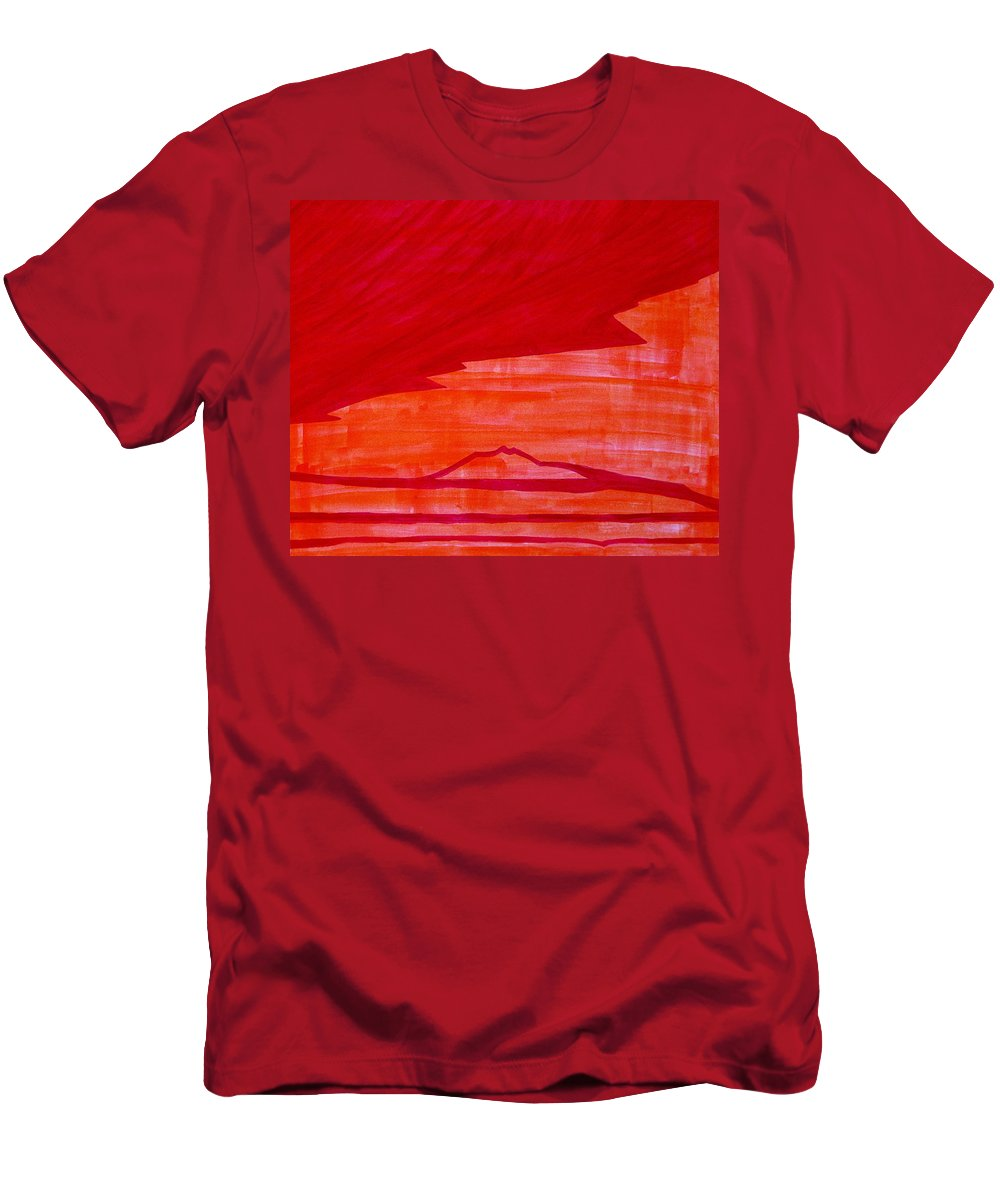 Painting Men's T-Shirt (Athletic Fit) featuring the painting Tres Orejas Original Painting by Sol Luckman