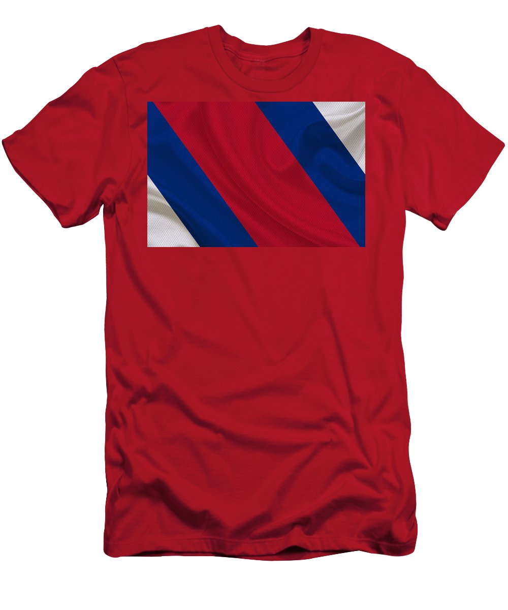 Bills Men's T-Shirt (Athletic Fit) featuring the photograph Buffalo Bills by Joe Hamilton