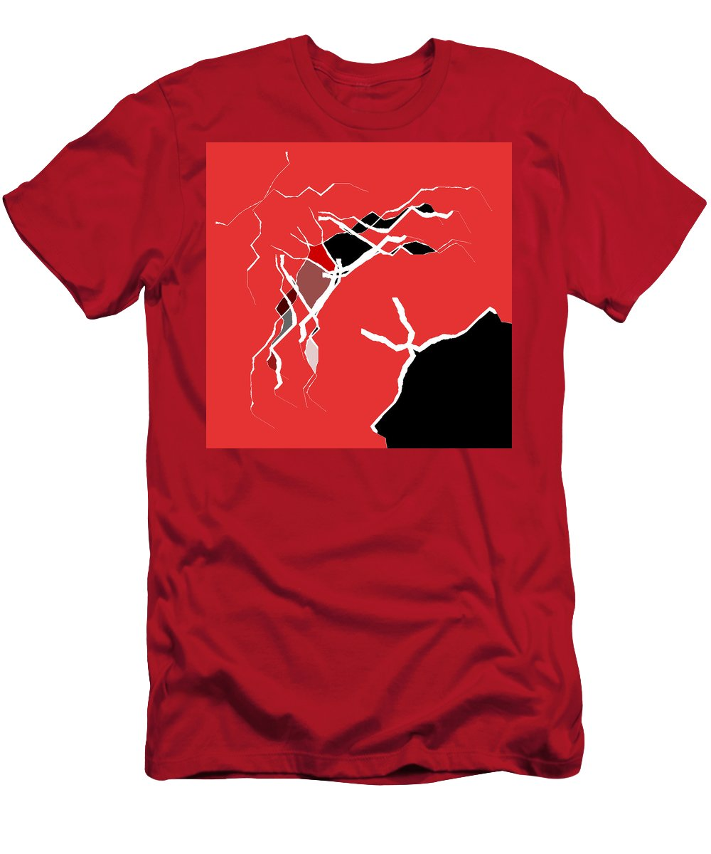 Abstract Men's T-Shirt (Athletic Fit) featuring the digital art 5040.16.10 by Gareth Lewis