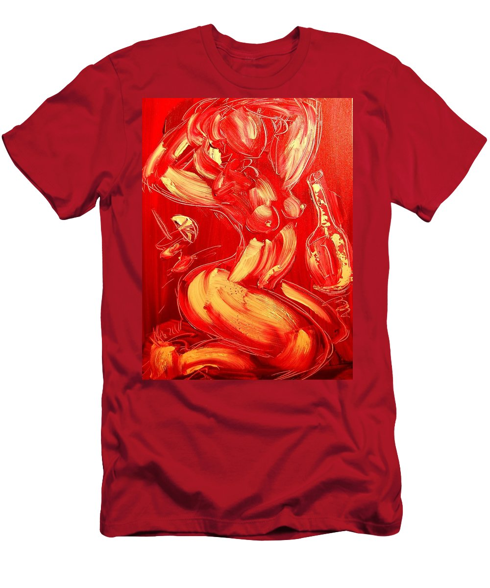 Men's T-Shirt (Athletic Fit) featuring the painting Nude by Mark Kazav