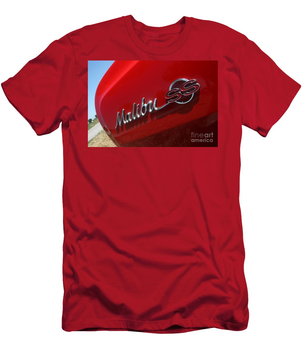 Chevrolet Men's T-Shirt (Athletic Fit) featuring the photograph 65 Malibu Ss 7822 by Gary Gingrich Galleries