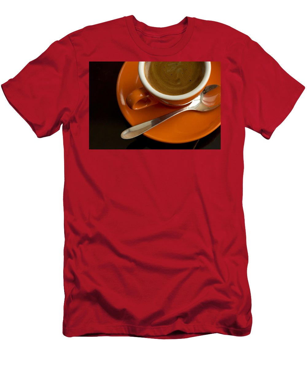 Coffee Men's T-Shirt (Athletic Fit) featuring the photograph Espresso by Chevy Fleet