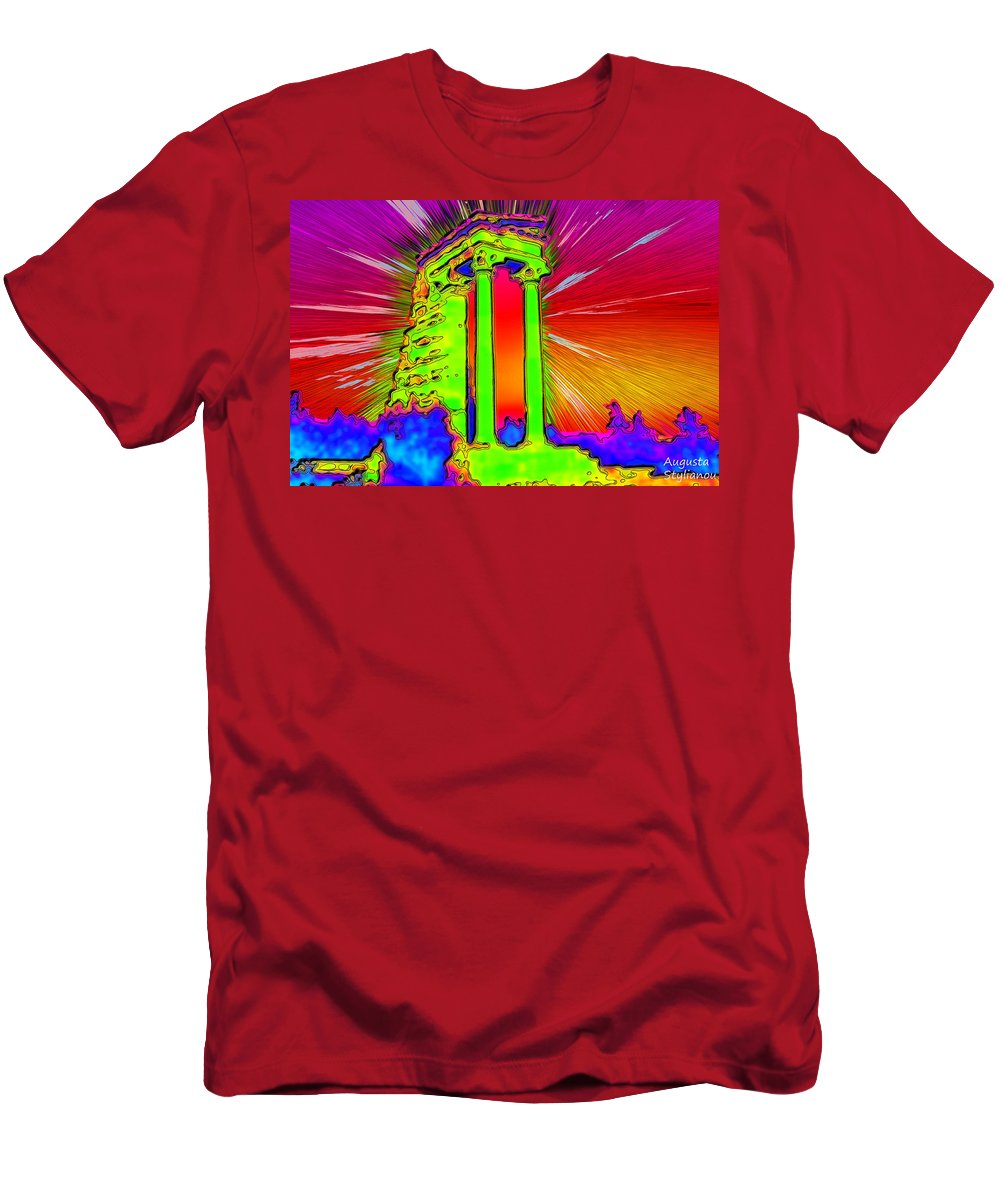 Augusta Stylianou Men's T-Shirt (Athletic Fit) featuring the digital art Apollo Sanctuary - Cyprus by Augusta Stylianou