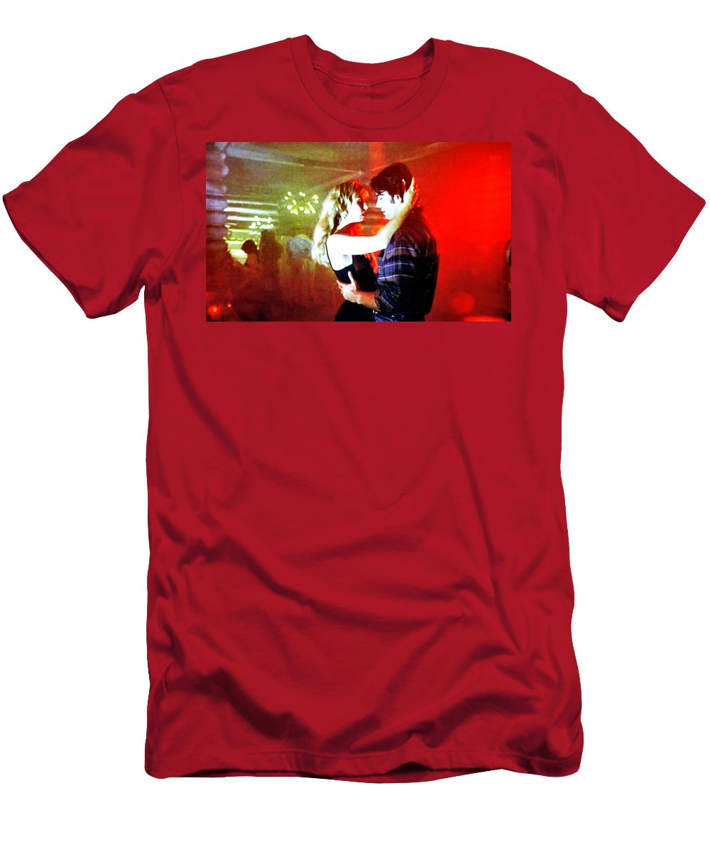 Laura Palmer Men's T-Shirt (Athletic Fit) featuring the painting Fire Walk With Me by Luis Ludzska