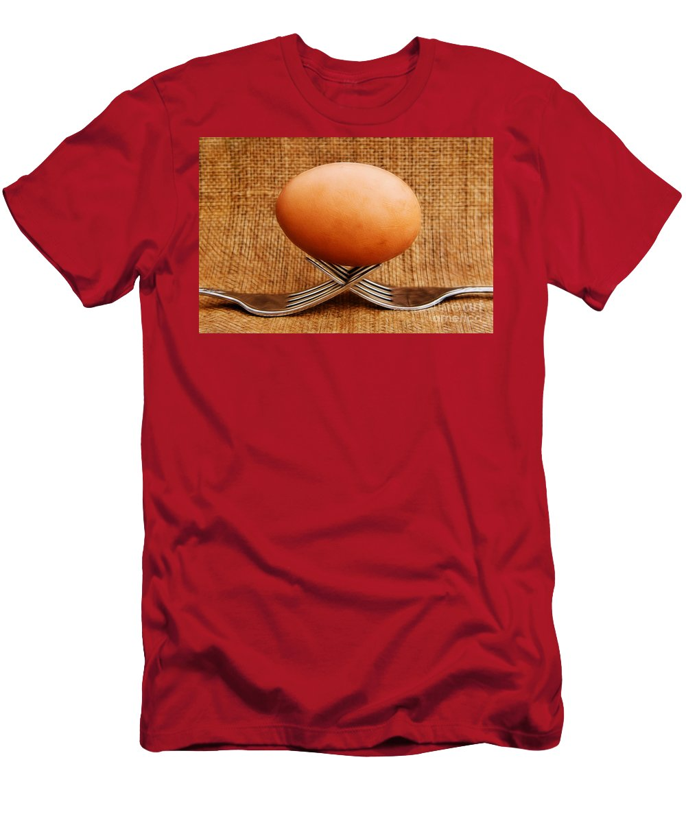 Abstract Men's T-Shirt (Athletic Fit) featuring the photograph A Balanced Meal by Susie Peek