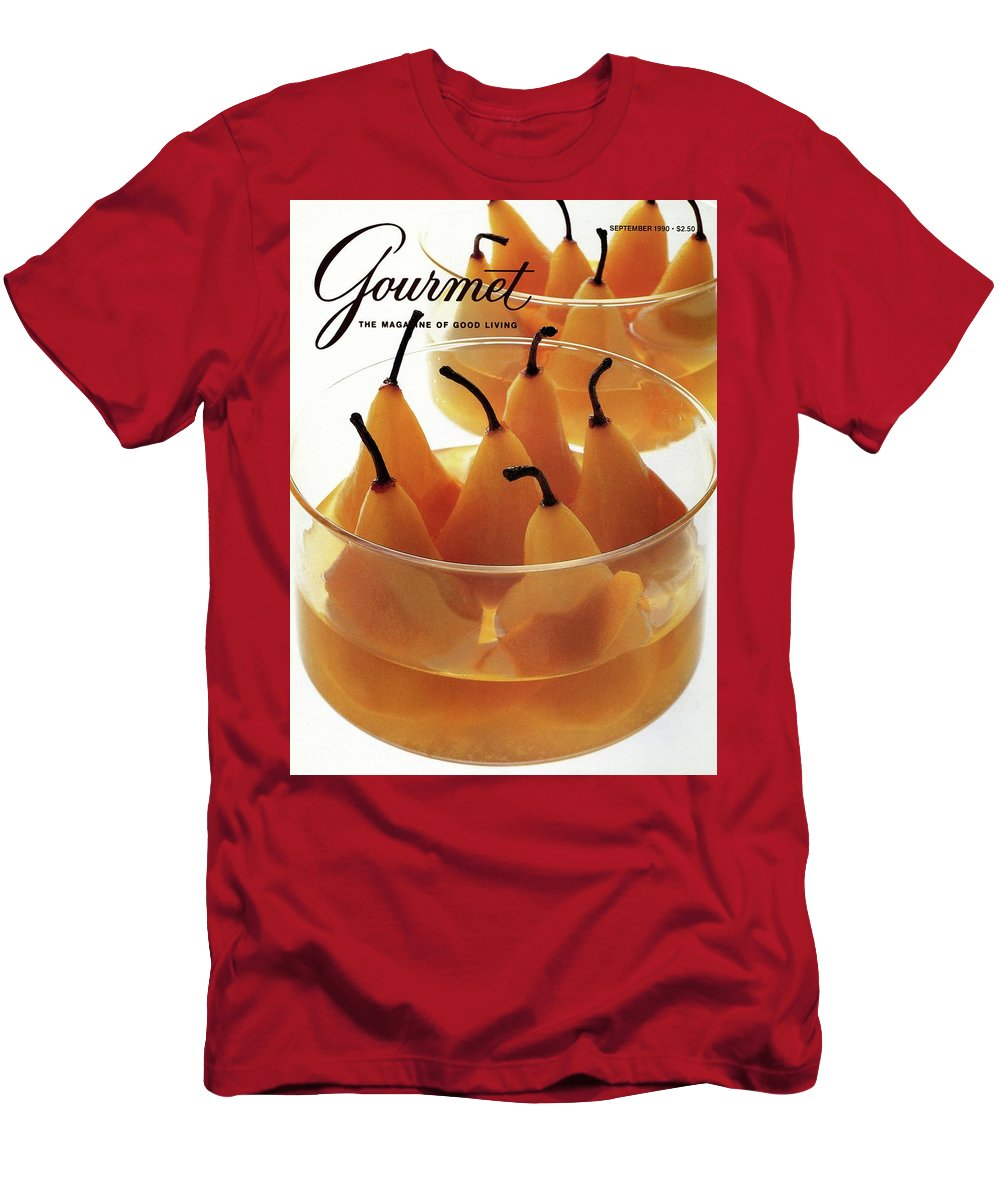 Food T-Shirt featuring the photograph A Gourmet Cover Of Baked Pears by Romulo Yanes