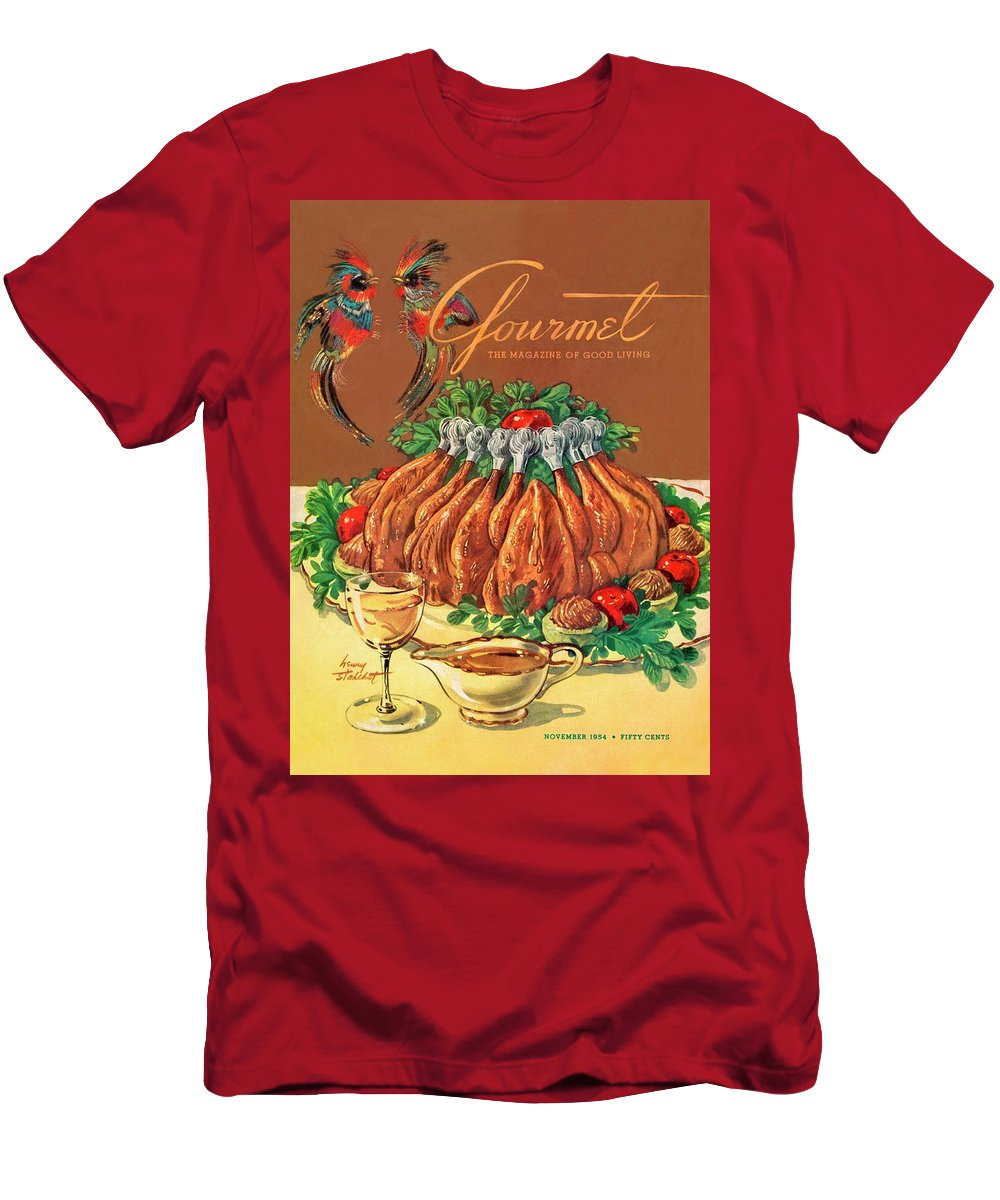 Food T-Shirt featuring the photograph A Gourmet Cover Of Chicken by Henry Stahlhut