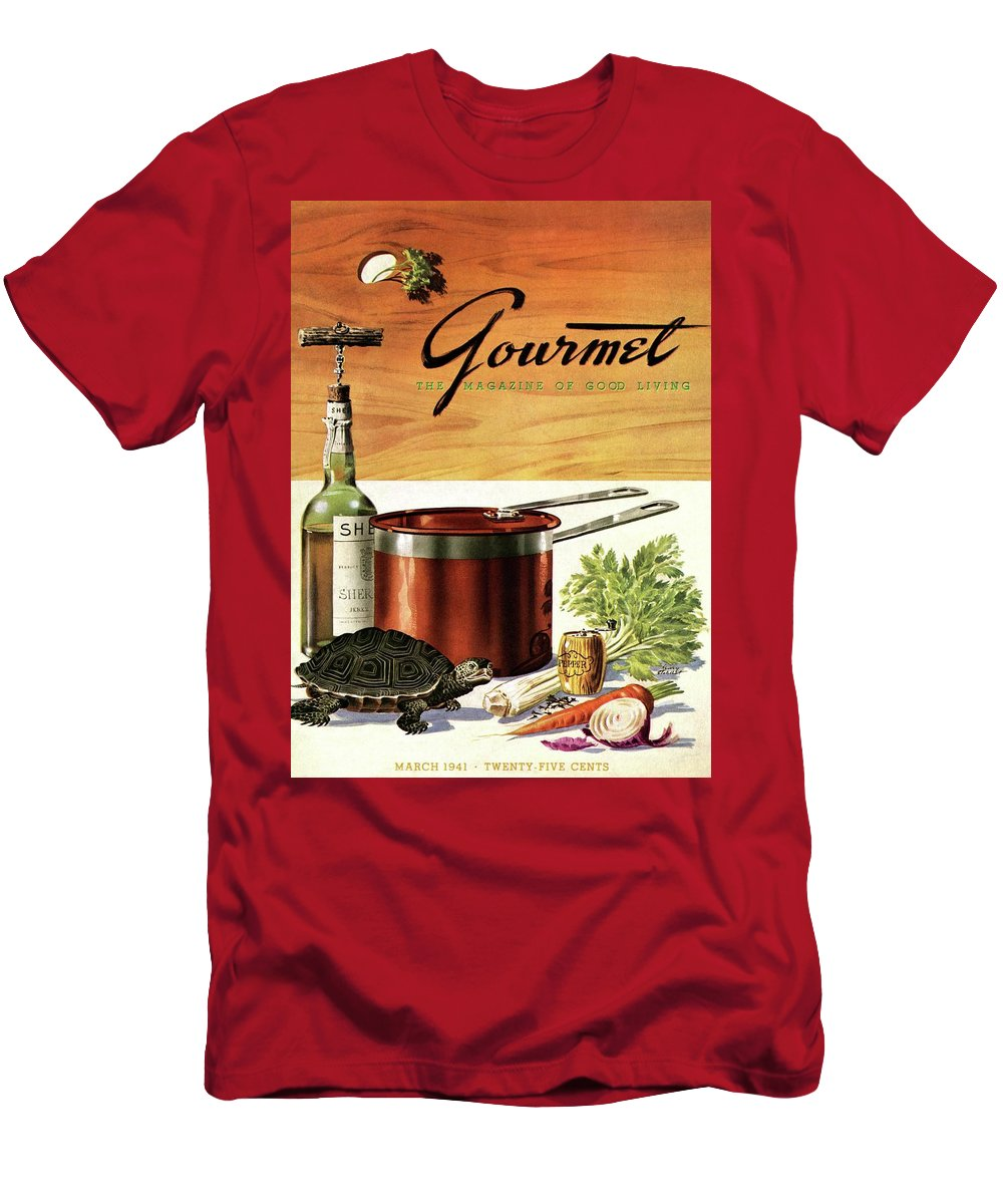 Illustration T-Shirt featuring the photograph A Gourmet Cover Of Turtle Soup Ingredients by Henry Stahlhut