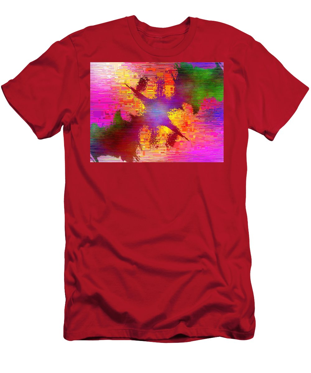 Abstract Men's T-Shirt (Athletic Fit) featuring the digital art Abstract Cubed 26 by Tim Allen