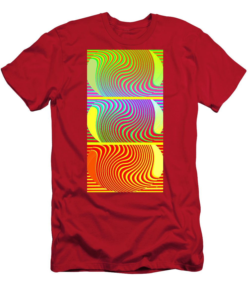 Abstract Fusion 205 Men's T-Shirt (Athletic Fit) featuring the digital art Abstract Fusion 205 by Will Borden