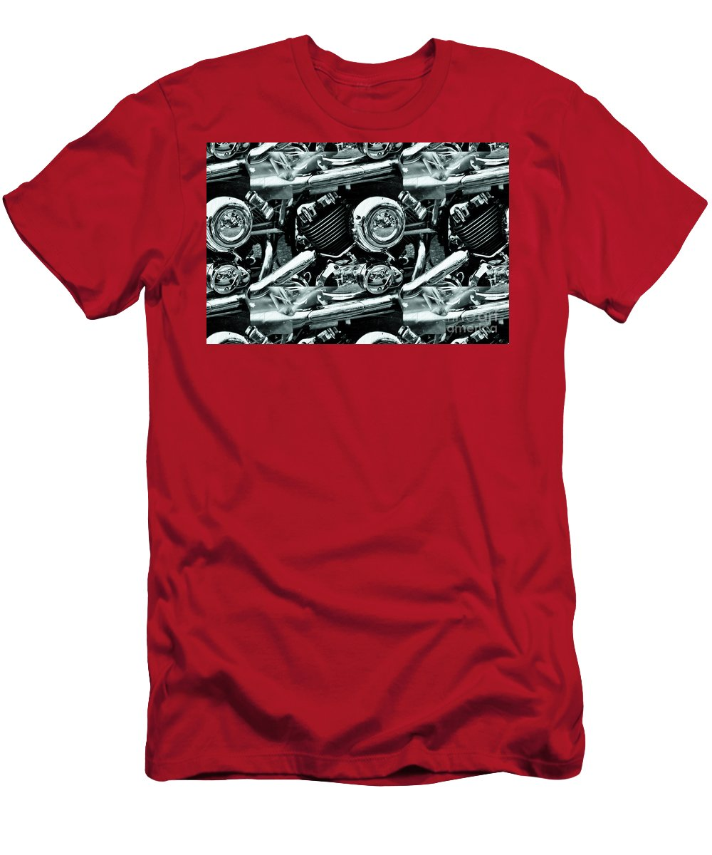 Victory Motorcycles Men's T-Shirt (Athletic Fit) featuring the photograph Abstract Motor Bike - Doc Braham - All Rights Reserved by Doc Braham