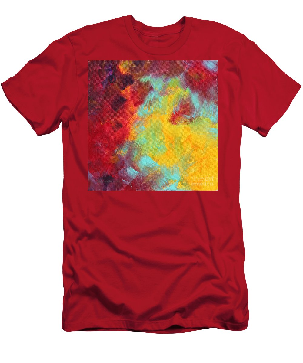 Abstract Men's T-Shirt (Athletic Fit) featuring the painting Abstract Original Painting Colorful Vivid Art Colors Of Glory I By Megan Duncanson by Megan Duncanson