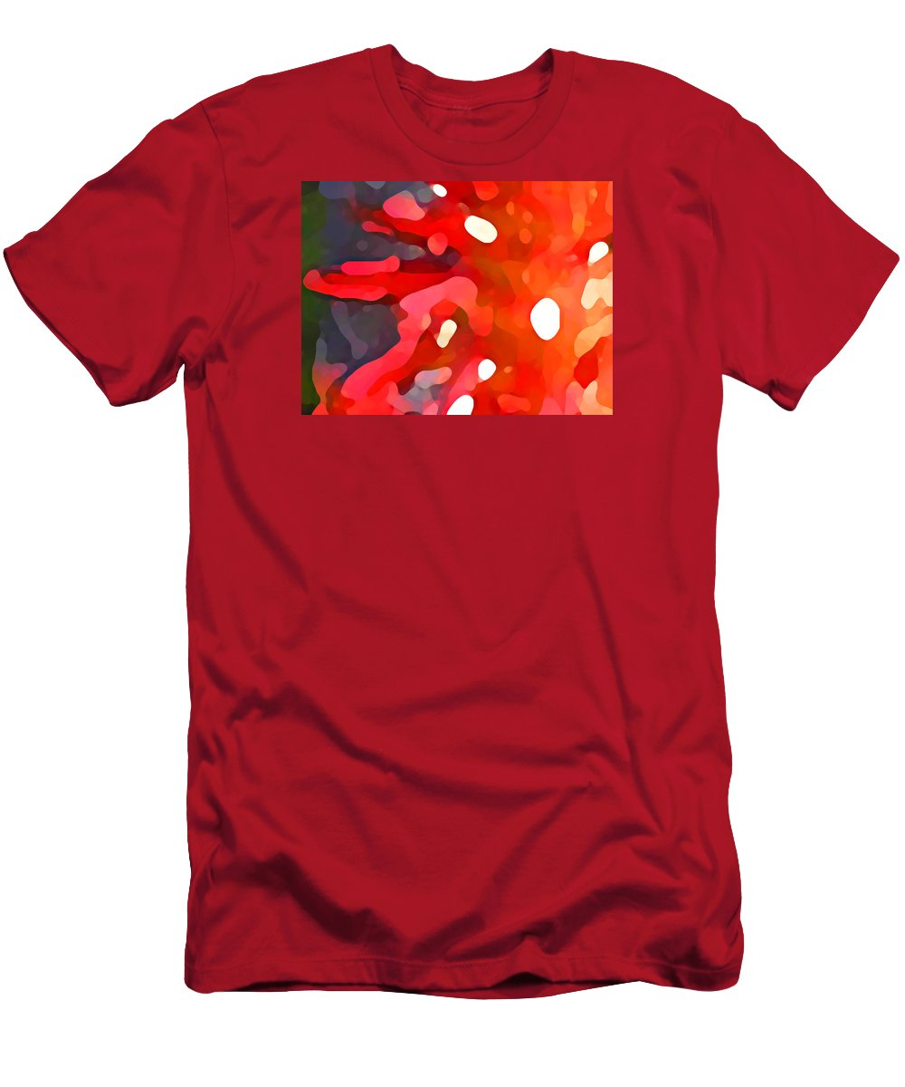Bold Men's T-Shirt (Athletic Fit) featuring the painting Abstract Red Sun by Amy Vangsgard