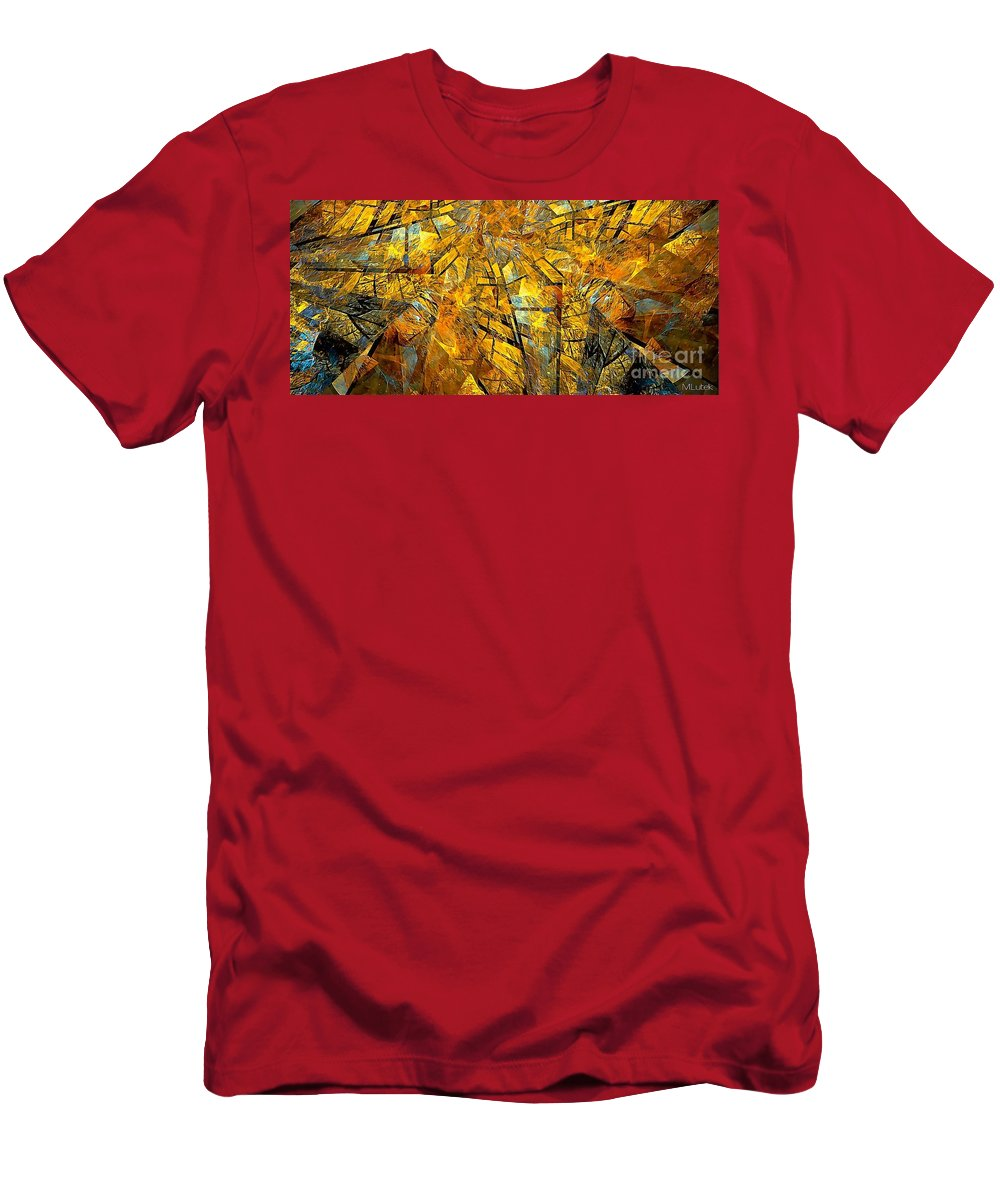 Abstract Men's T-Shirt (Athletic Fit) featuring the painting Abstraction 635-12-13 Marucii by Marek Lutek