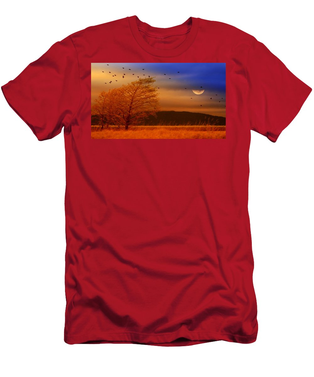 Landscape Men's T-Shirt (Athletic Fit) featuring the photograph Against The Wind by Holly Kempe