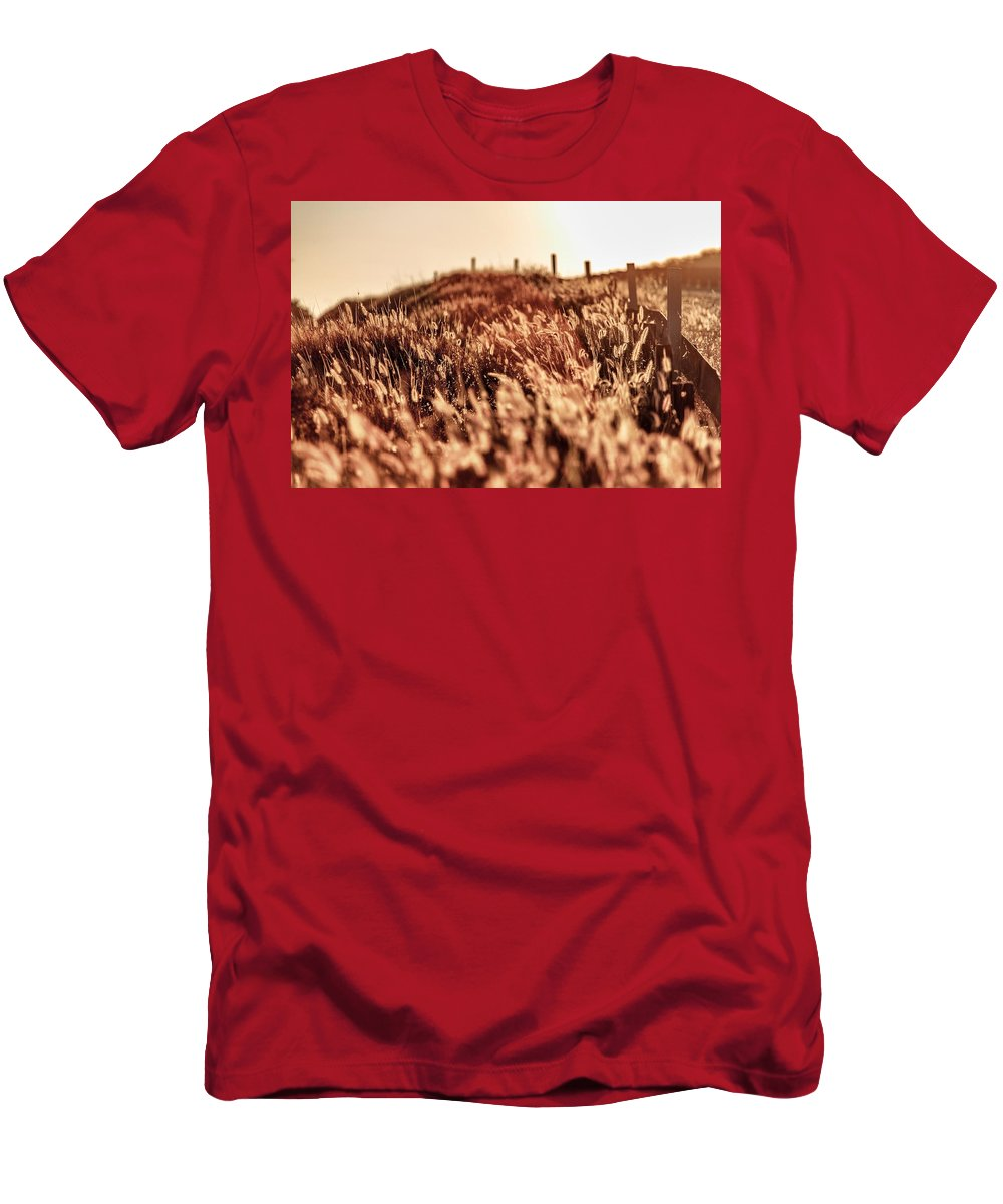 Bright Men's T-Shirt (Athletic Fit) featuring the photograph Amber Waves Of Grain by Justin Lowery