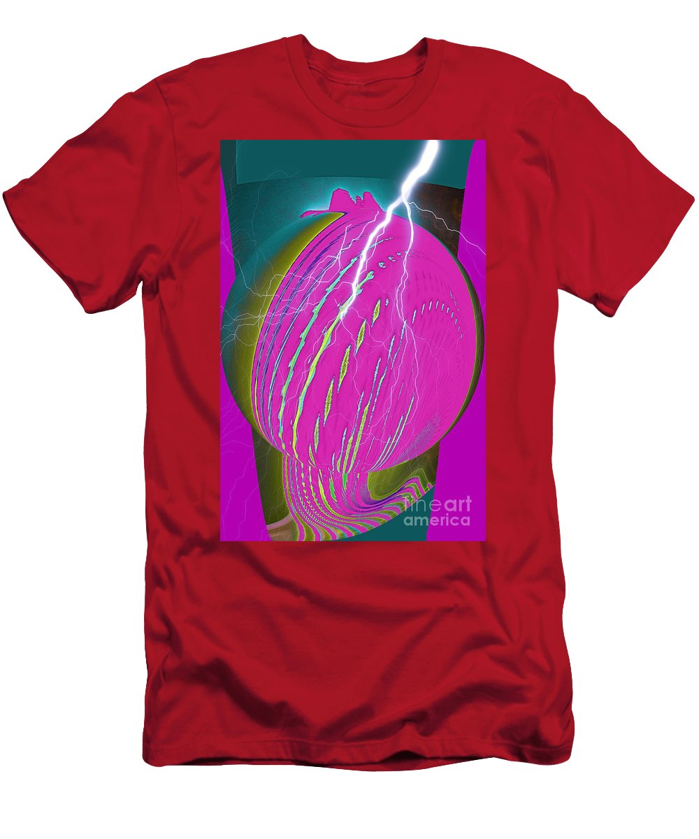 Earth Men's T-Shirt (Athletic Fit) featuring the digital art And He Called It Earth by Luther Fine Art