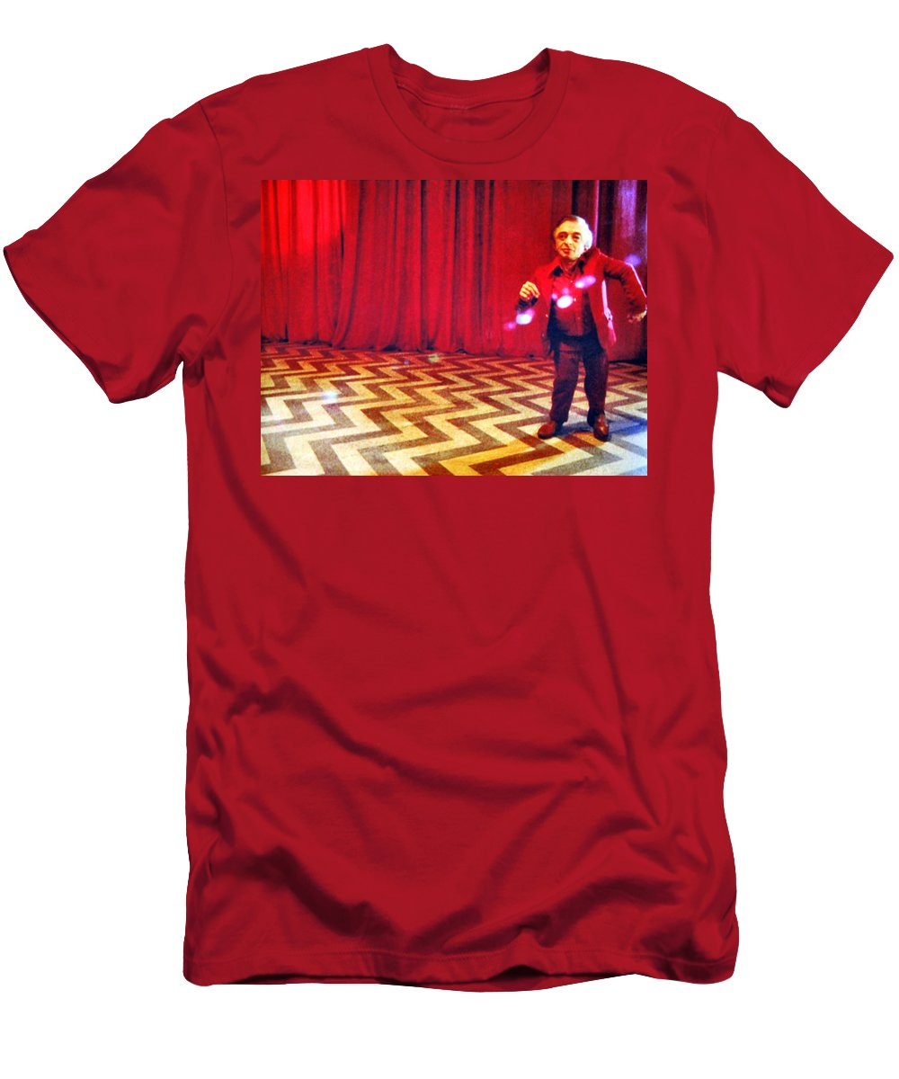 Laura Palmer Men's T-Shirt (Athletic Fit) featuring the painting And Theres Always Music In The Air by Luis Ludzska
