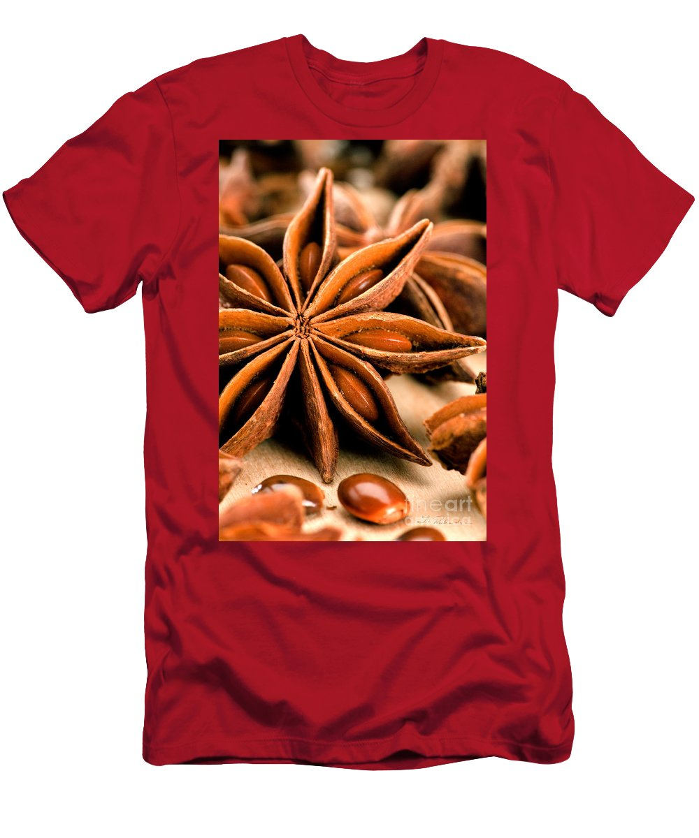 Anis Star Men's T-Shirt (Athletic Fit) featuring the photograph Anis Star by Iris Richardson